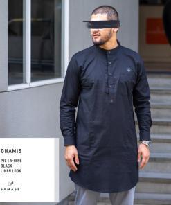 ghamis-panjang-a0094-black-linen-look
