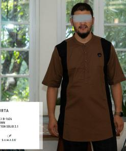 kurta-pendek-b1624-brown-cotton-solid-2-1