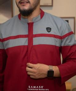 jubba-reguler-panjang-r0103-red-cotton-two-tone_3