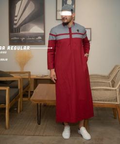 jubba-reguler-panjang-r0103-red-cotton-two-tone_5