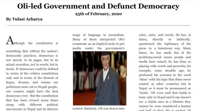 Oli-led Government and Defunct Democracy
