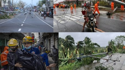 फिलिपिन्समा आँधीको ताण्डव, १० को मृत्यु, कैयौं घाइते, हजारौं विस्थापित