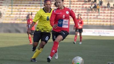 राष्ट्रिय महिला लिगमा एपीएफ क्लब र विराटनगर विजयी