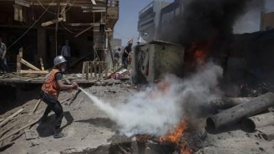 इजरायली लडाकू विमानद्वारा गाजा शहरमा थप आक्रमण