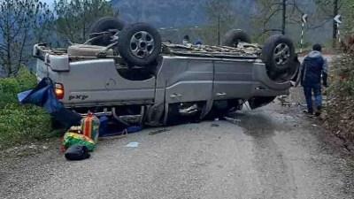 रुकुम पुर्वमा थुनुवा बोकेको गाडी दुर्घटना हुँदा ४ घाइते