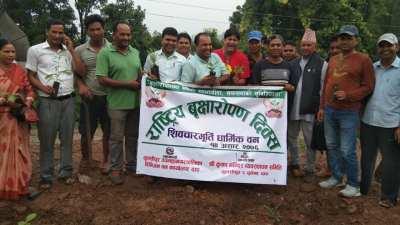दाङमा राष्ट्रिय वृक्षरोपण सप्ताह शुरु