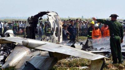 म्यान्मारमा सैनिक विमान दुर्घटनाग्रस्त