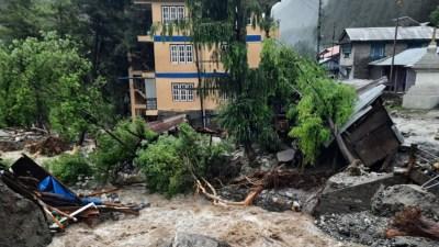 नदीको बहाव परिवर्तन हुँदा चामे गाउँपालिका उच्च जोखिममा