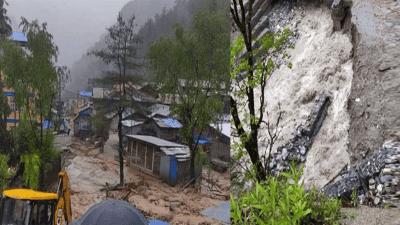 मनाङको चामेमा बाढीले ६ घरसहित पसल बगायो, स्थानियलाई सुरक्षित स्थानमा…