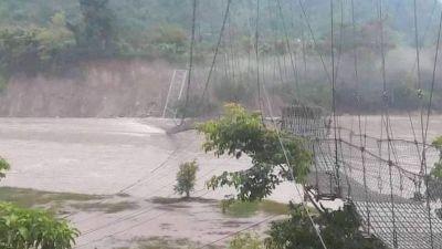 भासियो मस्र्याङ्दी नदीको झोलुङ्गे पुल
