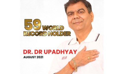 The 59 World Record Holder, Master Blaster – Global Lyricist and Novelist Dr.D.R.Upadhyay