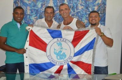 Presidente de honra Marcus Vinícius, carnavalesco Jean Rodrigues, Paulo Barros, e David dos Santos