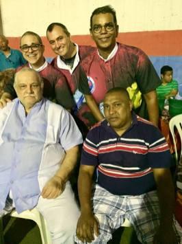 Trio de Carnavalescos e o Presidente da FBCERJ Izaltino Gonçalves Medeiros