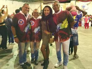 Trio de Carnavalesco e Jéssica Ferreira, PB da Unidos de Padre Miguel
