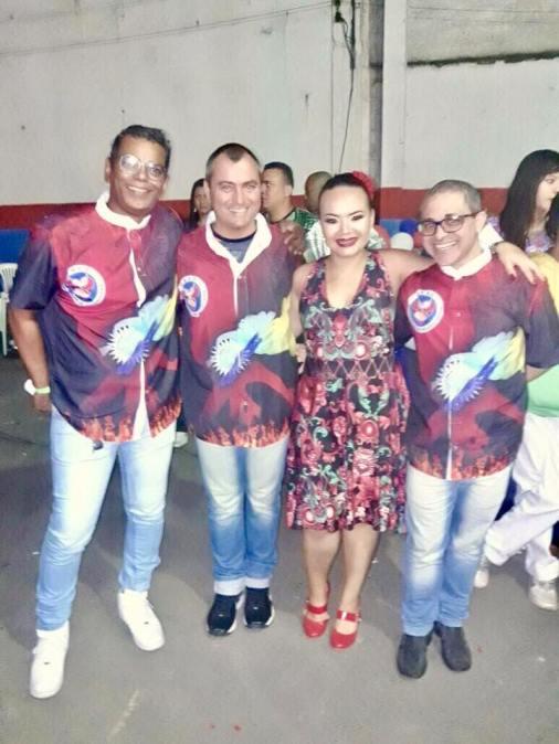 Trio de Carnavalesco e Cris Soares, 1ª PB da escola