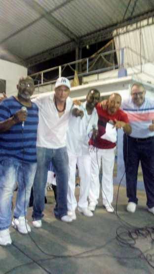 Da esquerda à direita: Gonzaguinha, Maurício Juliano, Antônio Amaral, Arthur Sambista e Wagner Zanco
