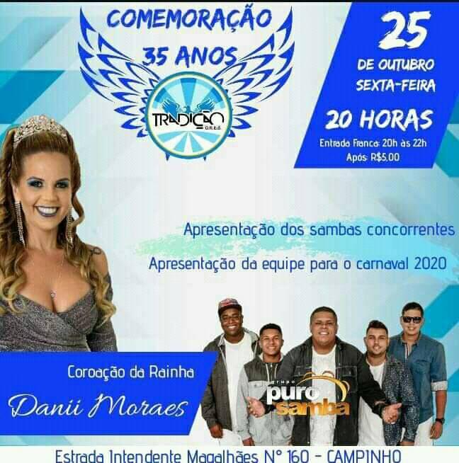 flyer apresentação dos sambas