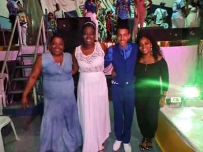 Vice Presidente Rute Maria, Evelyn, Pablo, Presidente Patricia Drummond