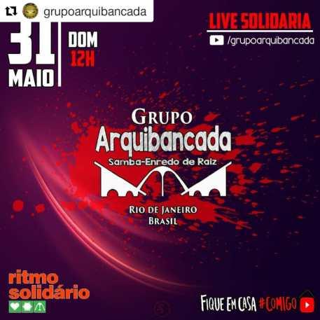 Divulgação Live Grupo Arquibancada