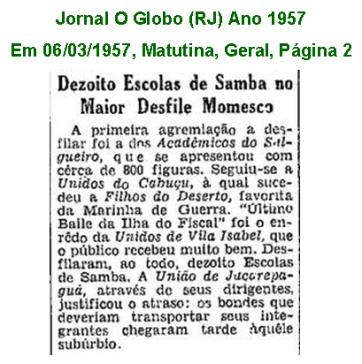 União Carnaval 1957 2
