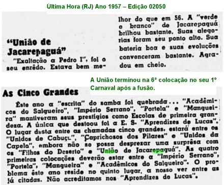 União Carnaval 1957