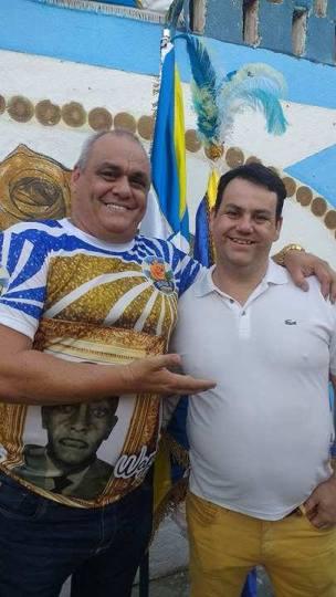 Presidente Helinho e o Carnavalesco Luciano Moreira