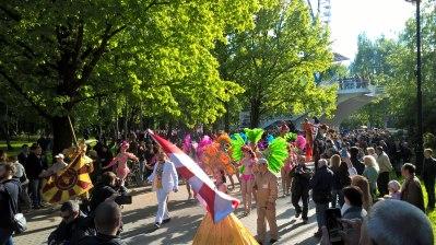 Шествие. Московский самба фестиваль 2018. Фото Ольги Александровой