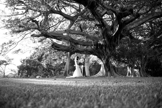 Elopement ceremony in Tamarindo, Costa Rica. Photographed by Kristen M. Brown, Samba to the Sea Photography.