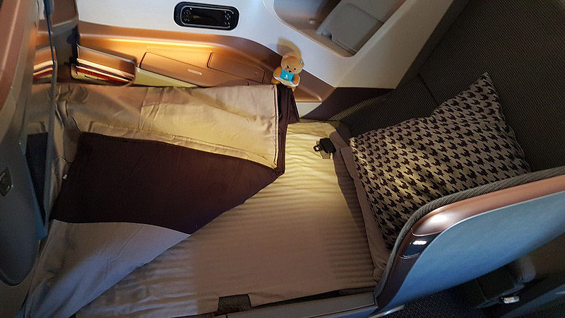 Singapore Airlines new Business Class Bed