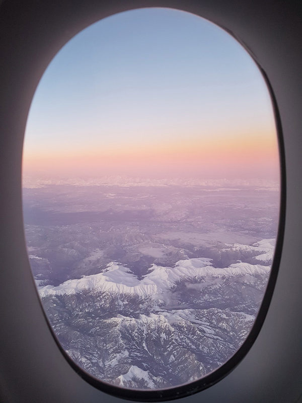 Singapore Airlines A350-900 window view