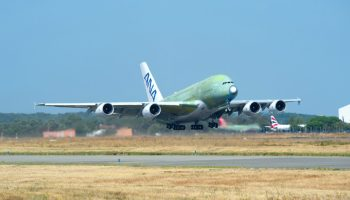 ANA Airbus A380 performs maiden flight