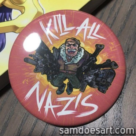 Fan art button of Wolfenstein: The New Order