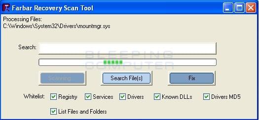 farbar scanning