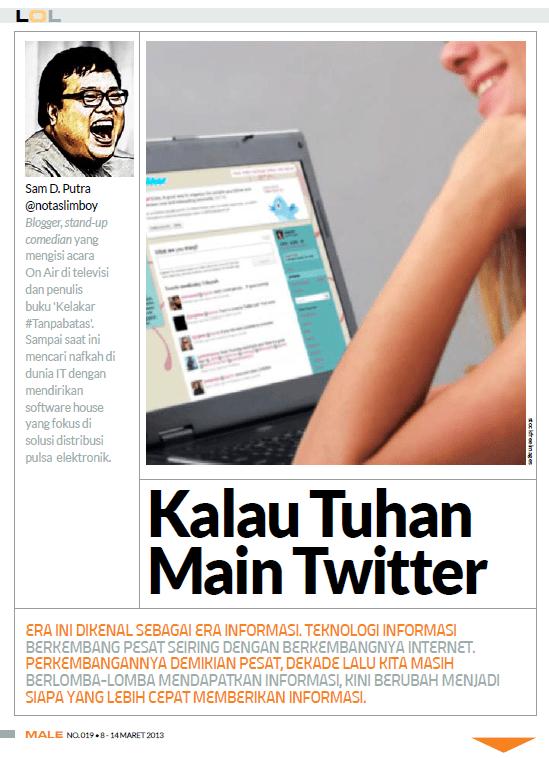 LOL Column - Male Magazine - edition 019