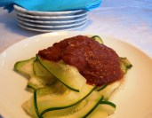 Italian Tomato Sauce with Zucchini Noodles
