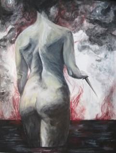 Untitled - Acrylic on wood - 11'x14'