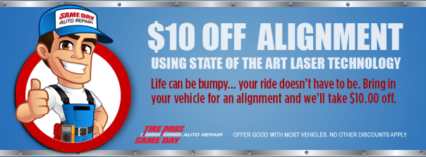 $10 off Wheel Alignment | Same Day Auto Repair