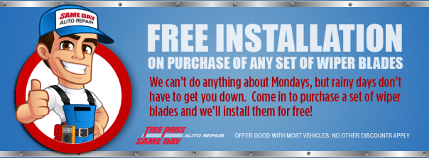 Wiper Blade Coupon - Same Day Auto Repair
