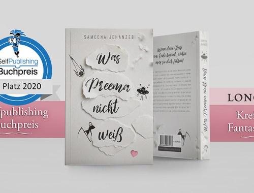1. Platz, Was Preema nicht weiß, Krefelder Fantasy Preis, Selfpublisher Buchpreis