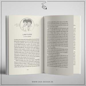 Buchsatz und Illustration zum Roman Clicks von Christin Thomas