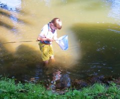 Soon trousers were abandonded and pond dipping became pond wadding.