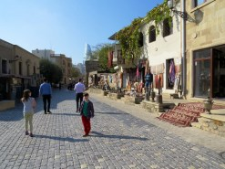 One of the small streets in the old city.