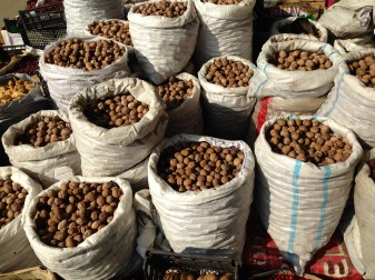 Sacks full of nuts.