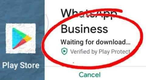 fix play store waiting for download