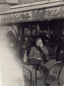 Francis at a Paris café.