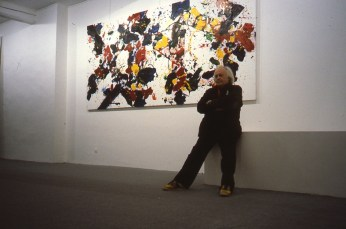 Francis at his exhibition in Gordes, France.