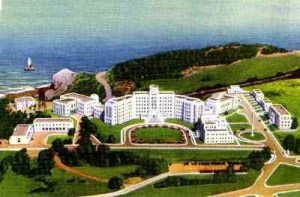 Postcard of Fort Miley Veterans Administration Hospital, San Francisco