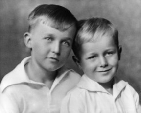 Francis with his brother, George.