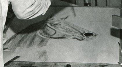 <em>Untitled</em>, 1946, charcoal on paper, unknown dimensions