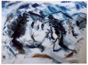 <em>Abstraction No. 1 (Winter)</em>, 1946, watercolor on paper, 22 3/4 x 32 in.